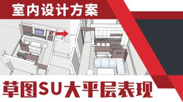 草图大师sketchup方案快速表现教程【户型/优化/设计/规划/施工】