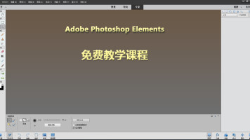 Photoshop Elements 图像编辑软件免费课程