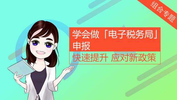 学会做「电子税务局」申报-全套申报课程【乐财税】