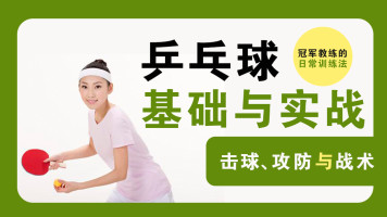 名师教学  乒乓球基础与实战技巧全套系统教程