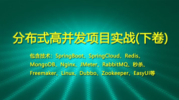 Java项目实战下卷[SpringBoot/SpringCloud/RabbitMQ/Redis/vue]