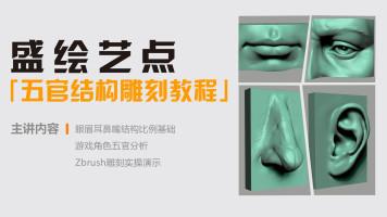 次世代游戏3D建模 Zbrush人脸五官雕刻