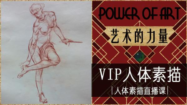 艺术的力量——VIP人体素描【人体素描直播课】
