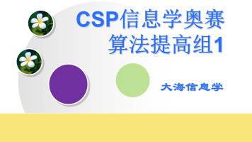 CSP信息学奥赛算法提高组1