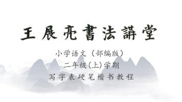 小学语文(部编版)二年级(上)学期写字表—王展亮硬笔楷书教程