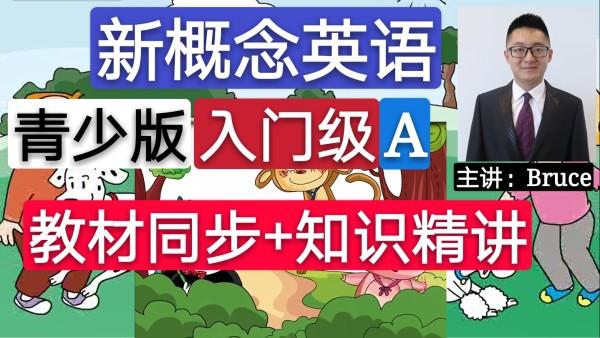少儿英语辅导课程,新概念英语青少版(入门级A)教材同步+知识精讲