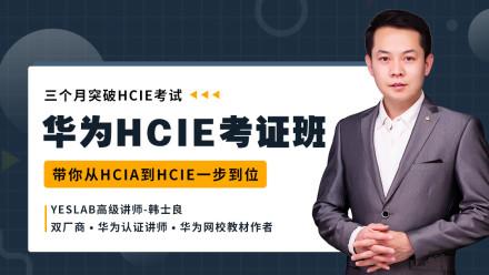 华为HCIE考证班/HCIA  YESLAB韩士良 三个月突破HCIE考试