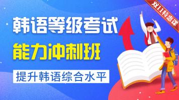 【年终特惠课】韩语等级考试能力冲刺试学班