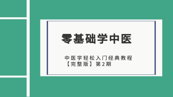 中医学轻松入门经典教程【完整版】第二期