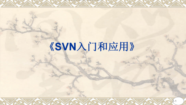 SVN入门和应用