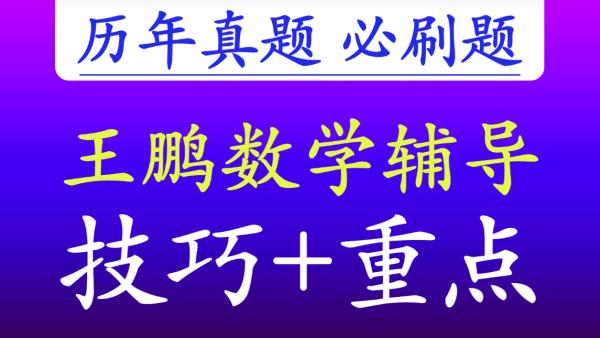 【王鹏数学】2020中考数学+历年真题突破+培优提分+内部资料