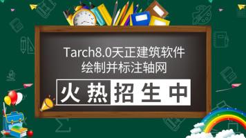 Tarch8.0天正建筑软件绘制并标注轴网
