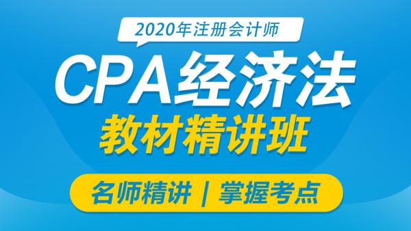 2020CPA注册会计师 经济法 教材精讲班