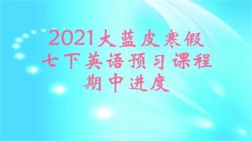 2021大蓝皮寒假七下英语预习(期中进度)——人教版