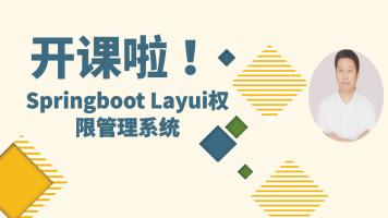 Spring boot Layui权限管理系统/零基础/Layui