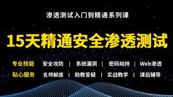 15天精通kali渗透测试/Web安全/网络安全/黑客/实战/攻防