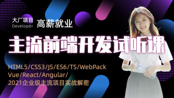 Web前端开发/HTML5/CSS3/JS/ES6/TS/Vue/React项目试听课