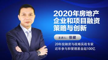 张健-2020年房地产企业和项目融资策略与创新