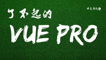 前端实战开发主流框架之了不起的Vue Pro【蝉壳学院】