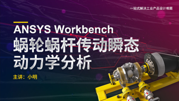 ANSYS WorkBench-10-蜗轮蜗杆传动瞬态动力学分析