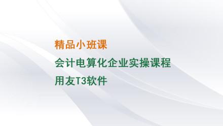 会计电算化之用友T3财务软件企业实操直播精讲(1对3)