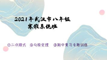 2021年武汉市八年级寒假系统班