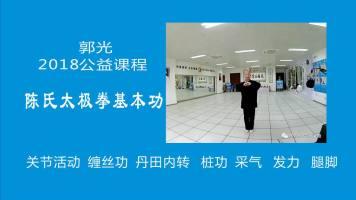 郭光2018公益课程:陈氏太极拳基本功法