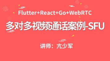 WebRTC多对多视频通话案例-SFU方案(Flutter+React+Golang)