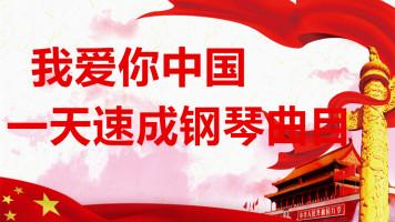一天速成钢琴《我爱你中国》键盘特效版