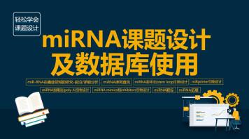 【益加医】课题设计:miRNA课题设计及数据库使用