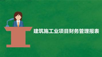 建筑施工业项目财务管理报表