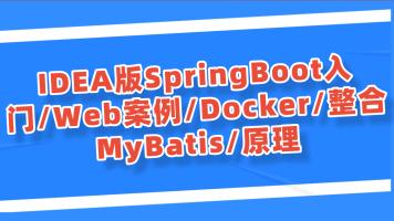 IDEA版SpringBoot入门/Web案例/Docker/整合MyBatis/原理