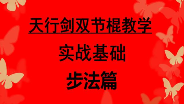 天行剑双节棍实战教学步法篇