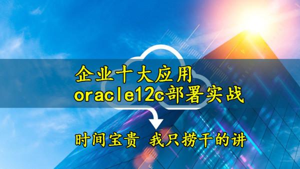 企业十大应用-Oracle12c部署实战