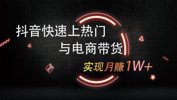 学习抖音快手网络营销网络推广 自媒体新媒体运营 短视频电商带货