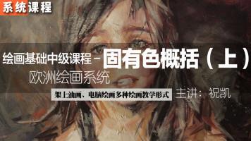祝凯绘画——固有色概括系统教学课程(上)(绘画基础中级课程)