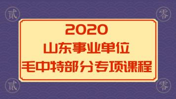 2020山东事业单位公共基础—毛中特专项课程