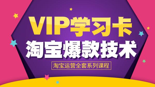 【金伙伴VIP-学习卡】淘宝运营从新手开店到爆款技术全套系列课程