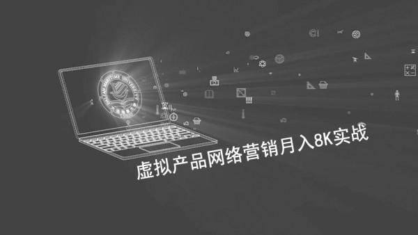 虚拟产品网络营销月入20K实战|虚拟产品网络推广实战