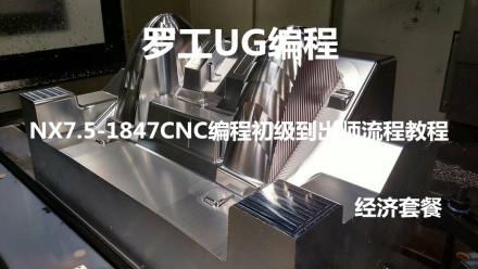 罗工UG编程NX7.5-10.0流程视频教程工厂实战初级到出师经济套餐