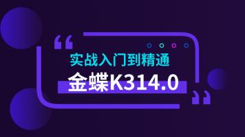 金蝶ERP-K3v14.0实战入门到精通/系统化成套视频/共100节/更新中