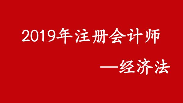 2019注册会计师《经济法》