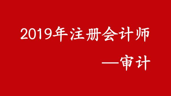2019注册会计师《审计》