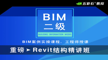 五彩石BIM课堂【BIM二级结构精讲项目案例班】