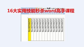 大仙教初学者16大实用技能秒杀word高手