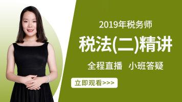 2019年税务师-税法(二)精讲班