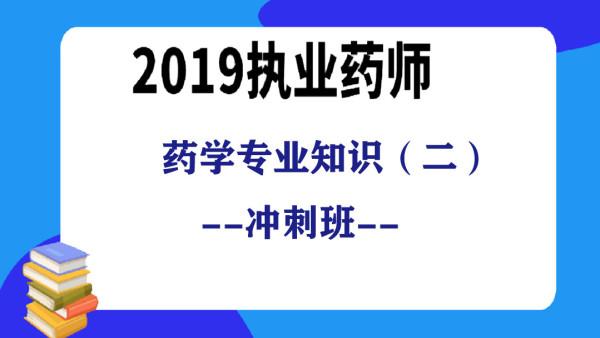 2019执业药师  药学专业知识(二)考前冲刺串讲班