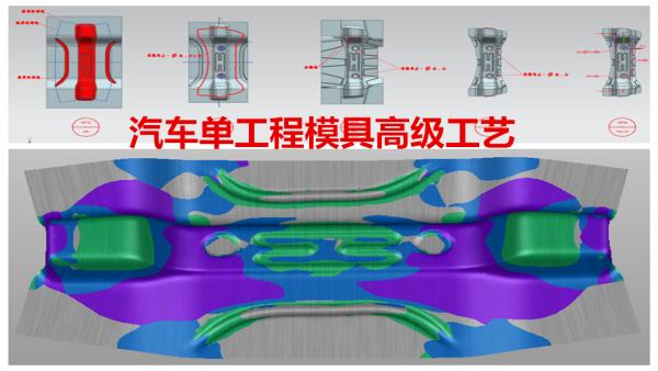 汽车钢板单工程模具高级CAE工艺设计模拟分析