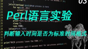 Perl语言编程实验3(判断输入时间是否为标准时间格式)