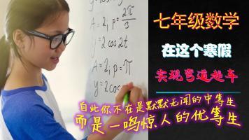 七年级数学寒假补习培优课程(全国人教)